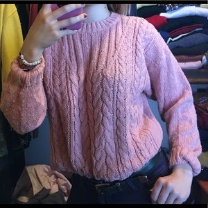 VINTAGE Cozy Pink Sweater